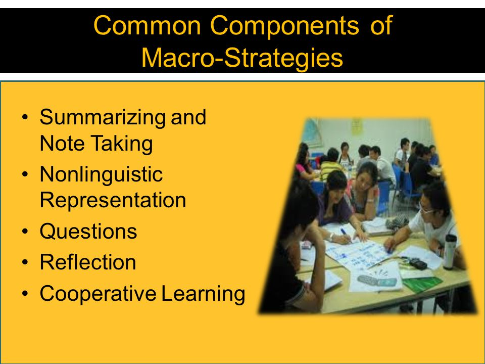 Common Components of Macro-Strategies