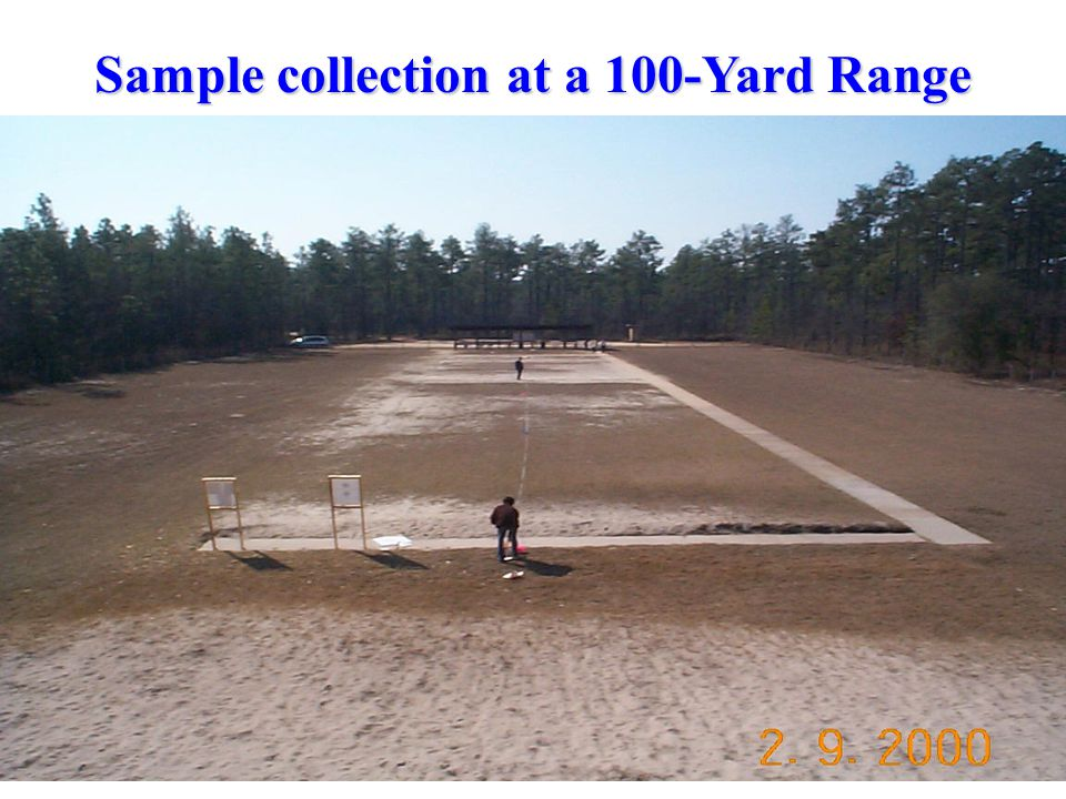 Sample collection at a 100-Yard Range