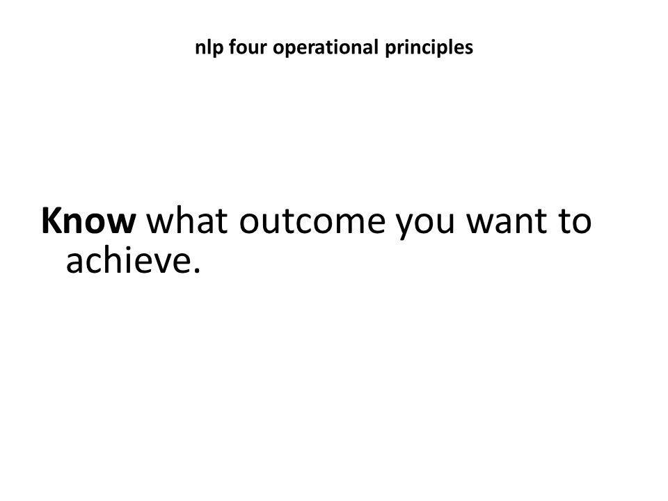 nlp four operational principles