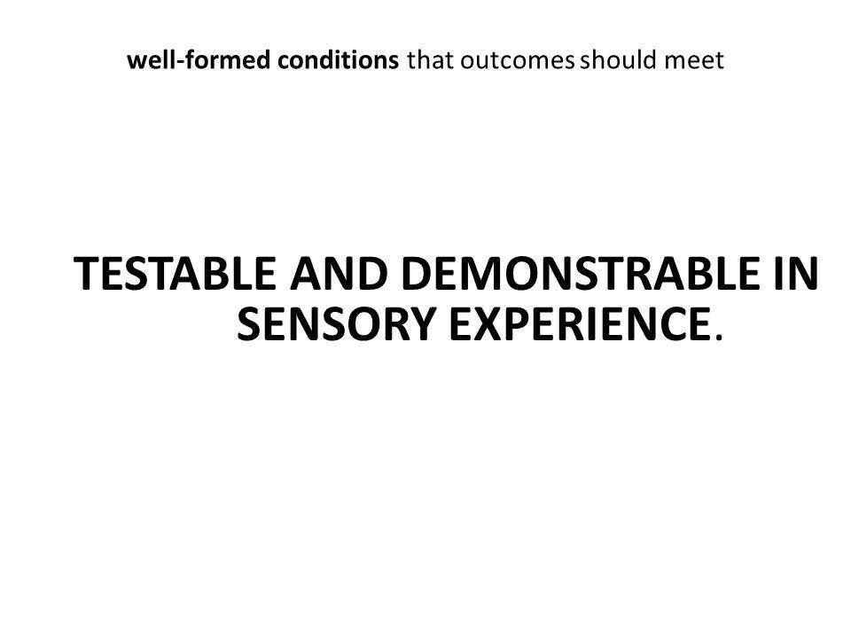 well-formed conditions that outcomes should meet