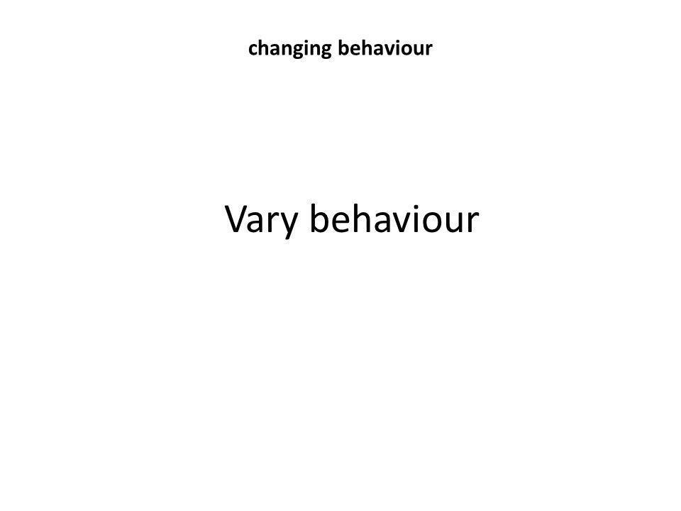 Vary behaviour changing behaviour