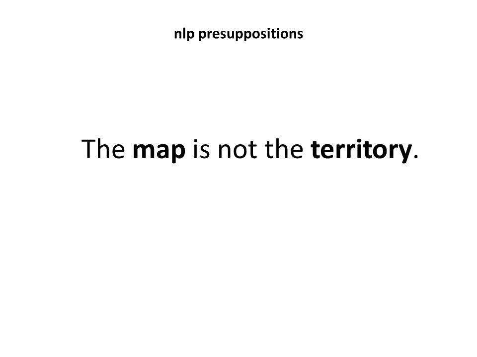 The map is not the territory.