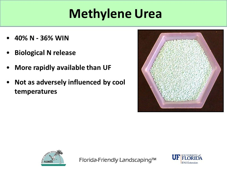 Methylene Urea 40% N - 36% WIN Biological N release