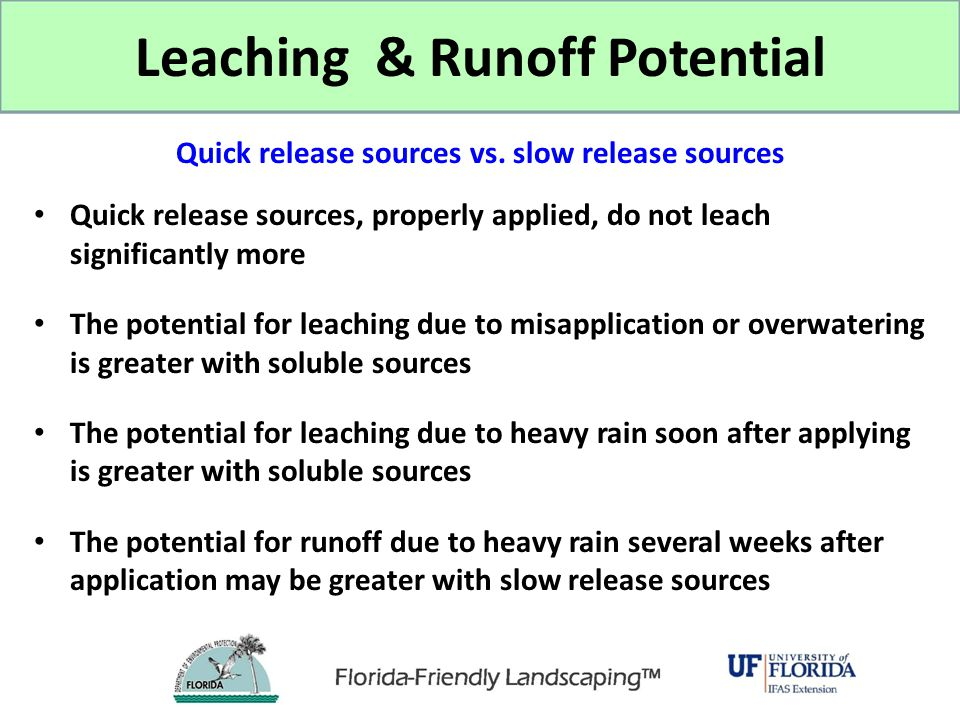 Leaching & Runoff Potential