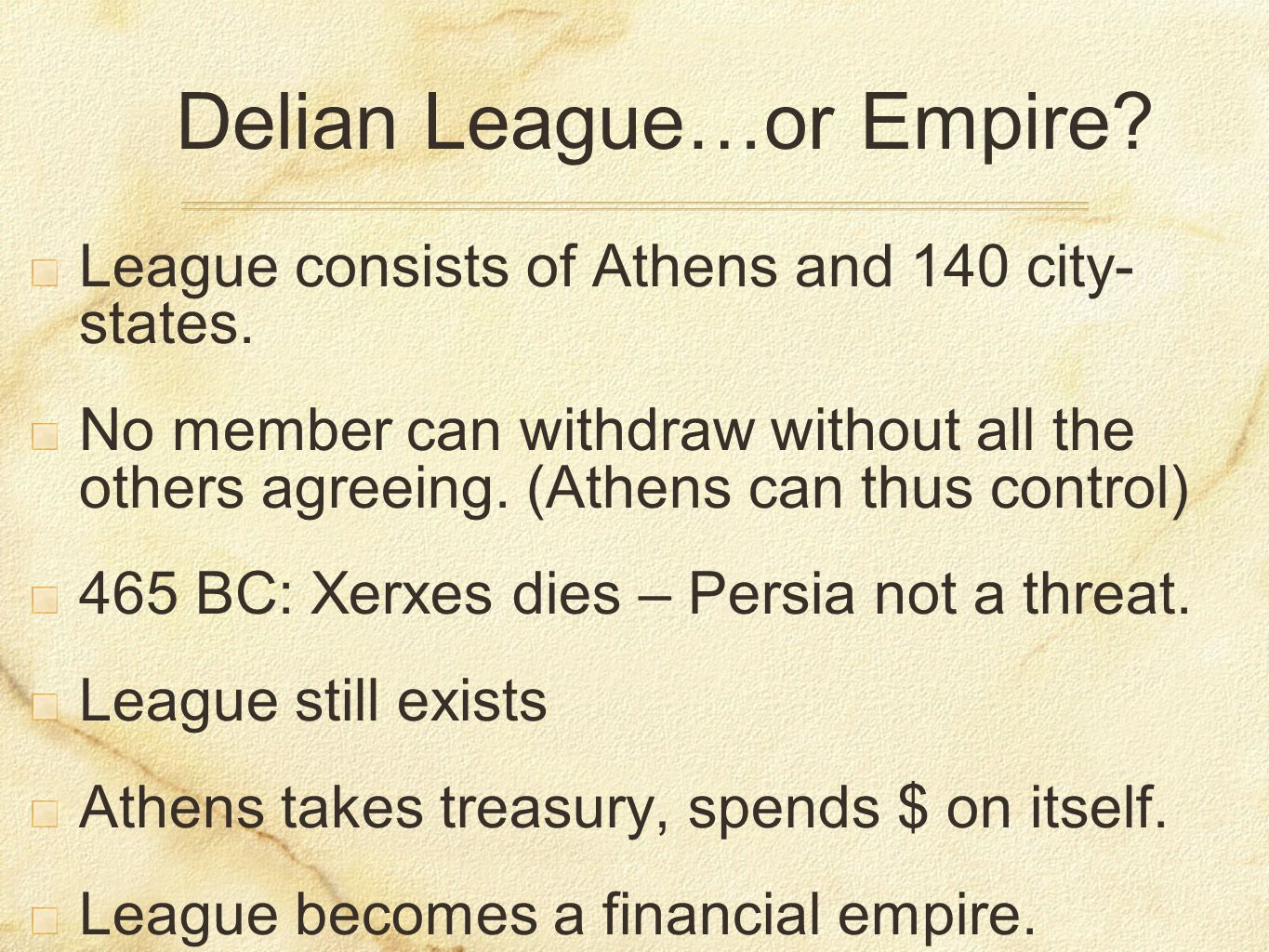 The Delian League And The Athenian Empire+Essay – 768490
