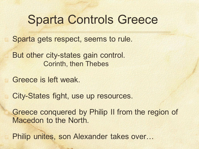 Sparta Controls Greece