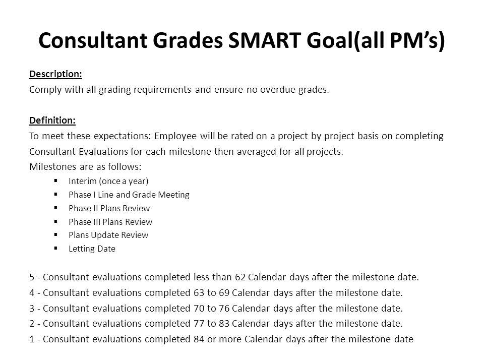 Consultant Grades SMART Goal(all PM's)