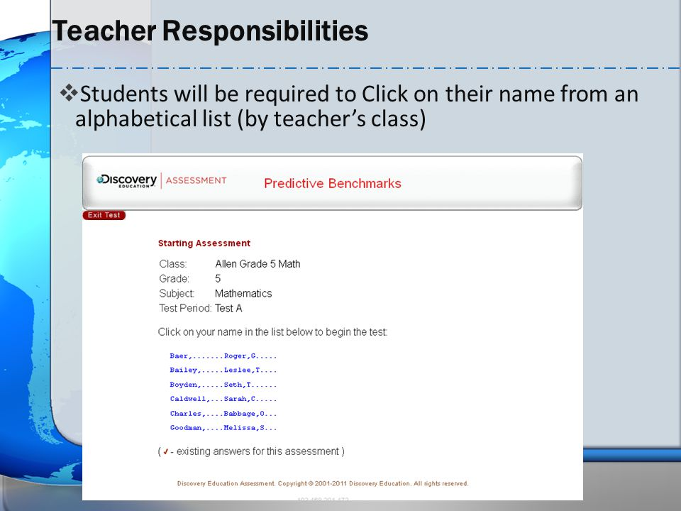 Teacher Responsibilities