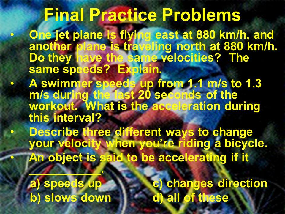 Final Practice Problems