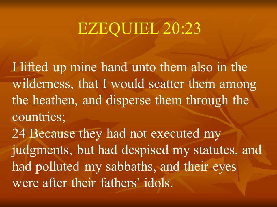 EZEQUIEL 20:23