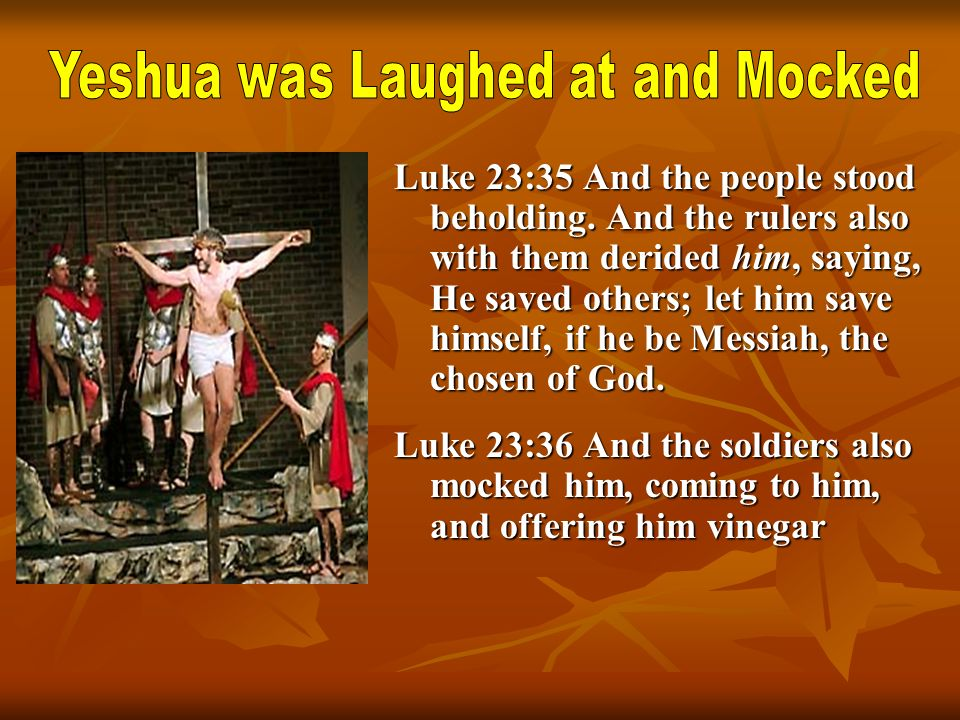 Yeshua was Laughed at and Mocked