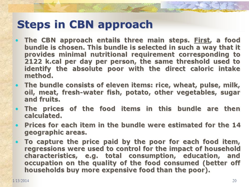 3/25/2017 Steps in CBN approach.
