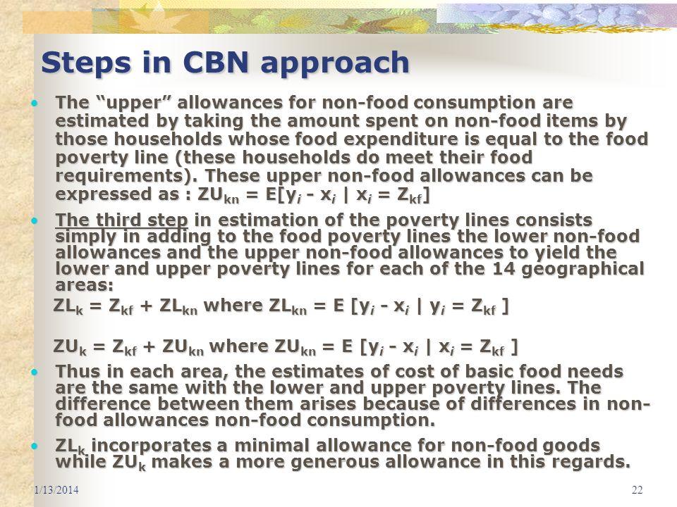 3/25/2017 Steps in CBN approach.