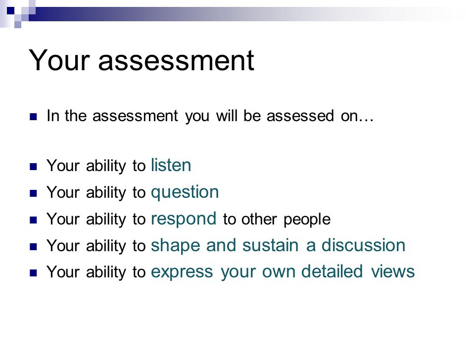 Your assessment In the assessment you will be assessed on…