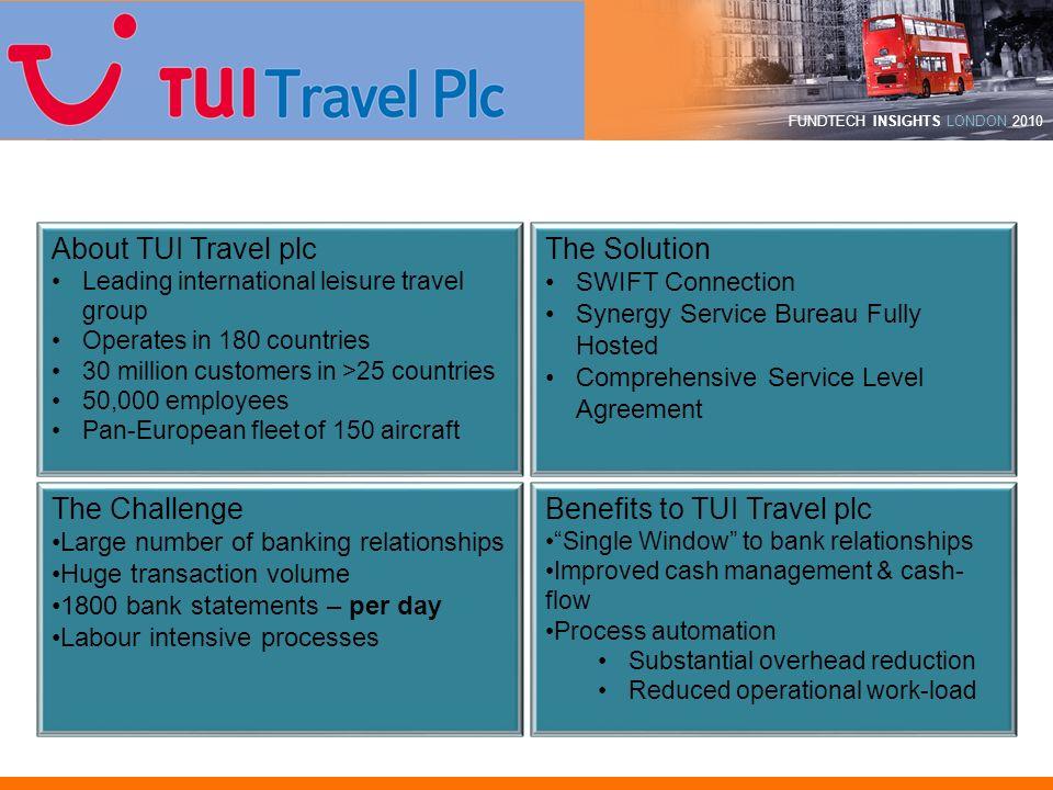 Benefits to TUI Travel plc