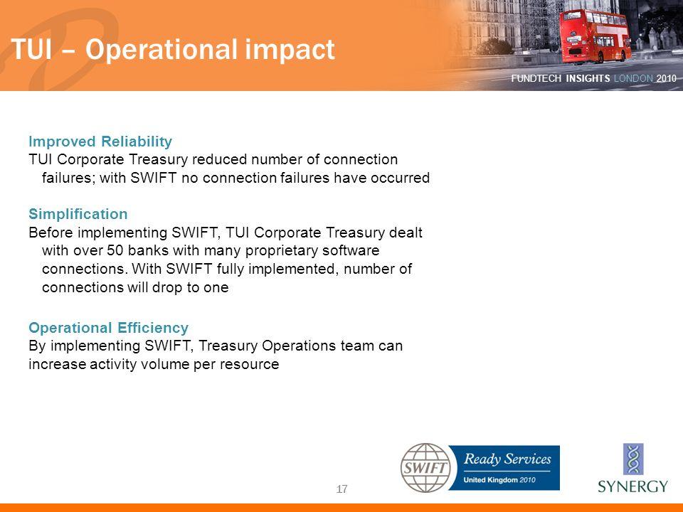 TUI – Operational impact