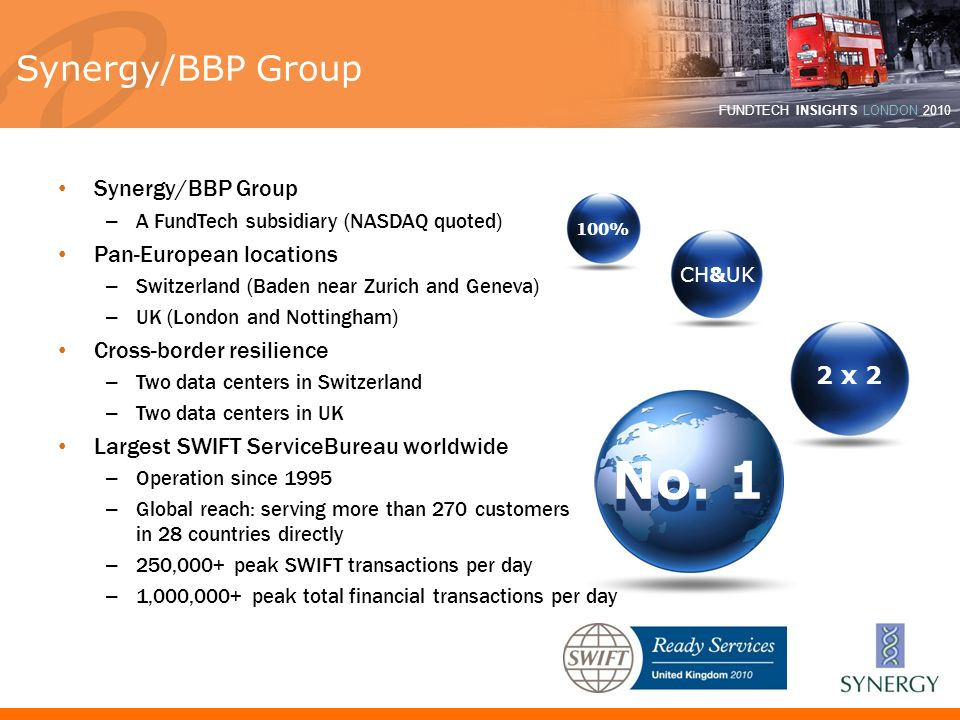 No. 1 Synergy/BBP Group Synergy/BBP Group Pan-European locations