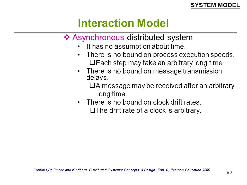 Interaction Model Asynchronous distributed system