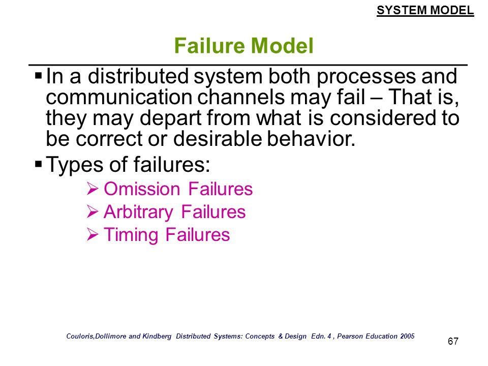 SYSTEM MODEL Failure Model.