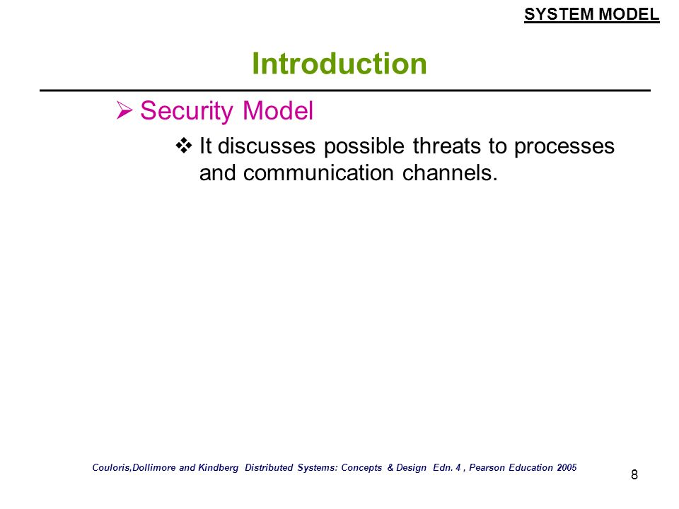 Introduction Security Model