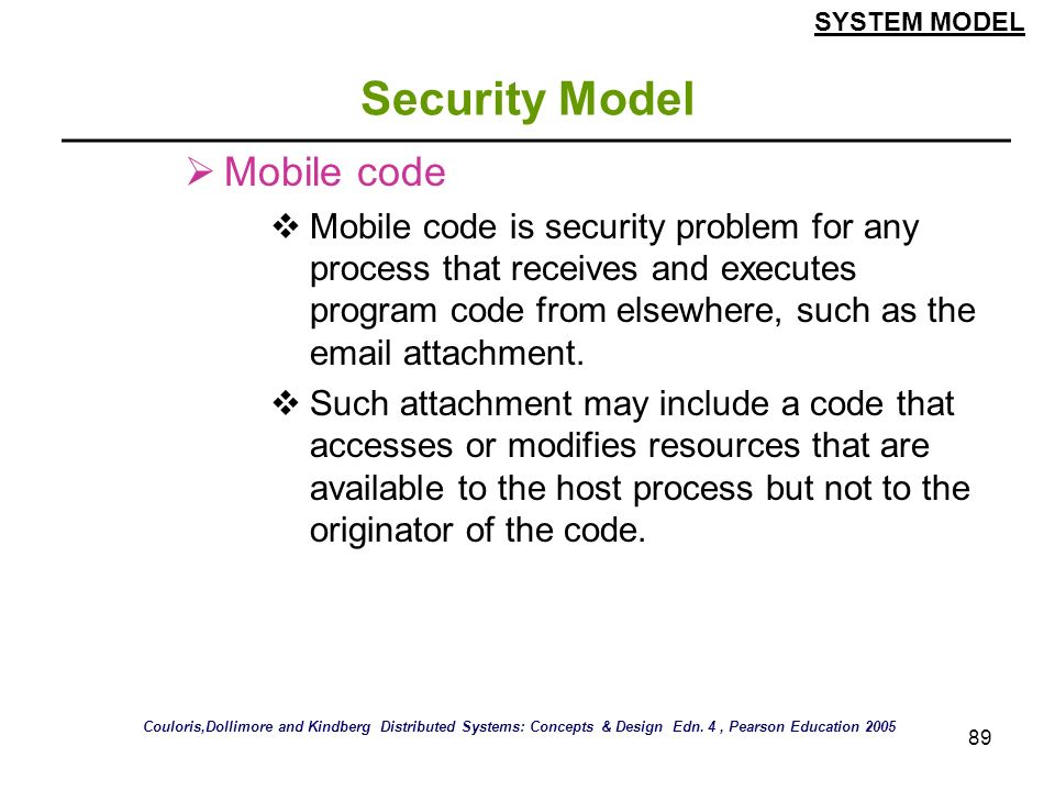 Security Model Mobile code