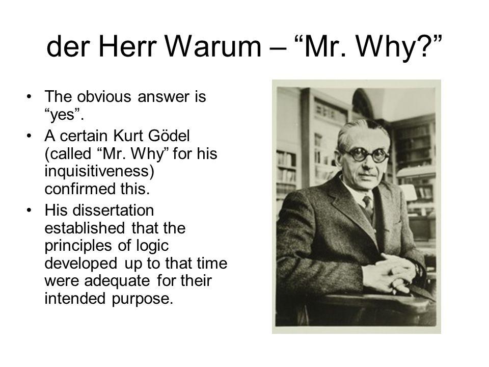 der Herr Warum – Mr. Why