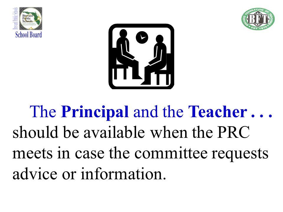 The Principal and the Teacher . . .