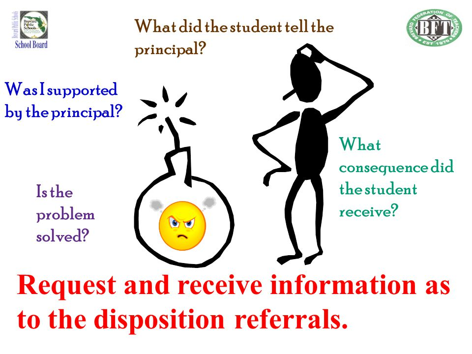 Request and receive information as to the disposition referrals.