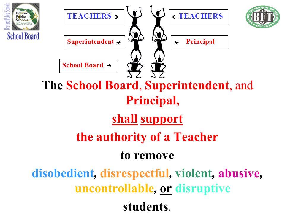 the authority of a Teacher