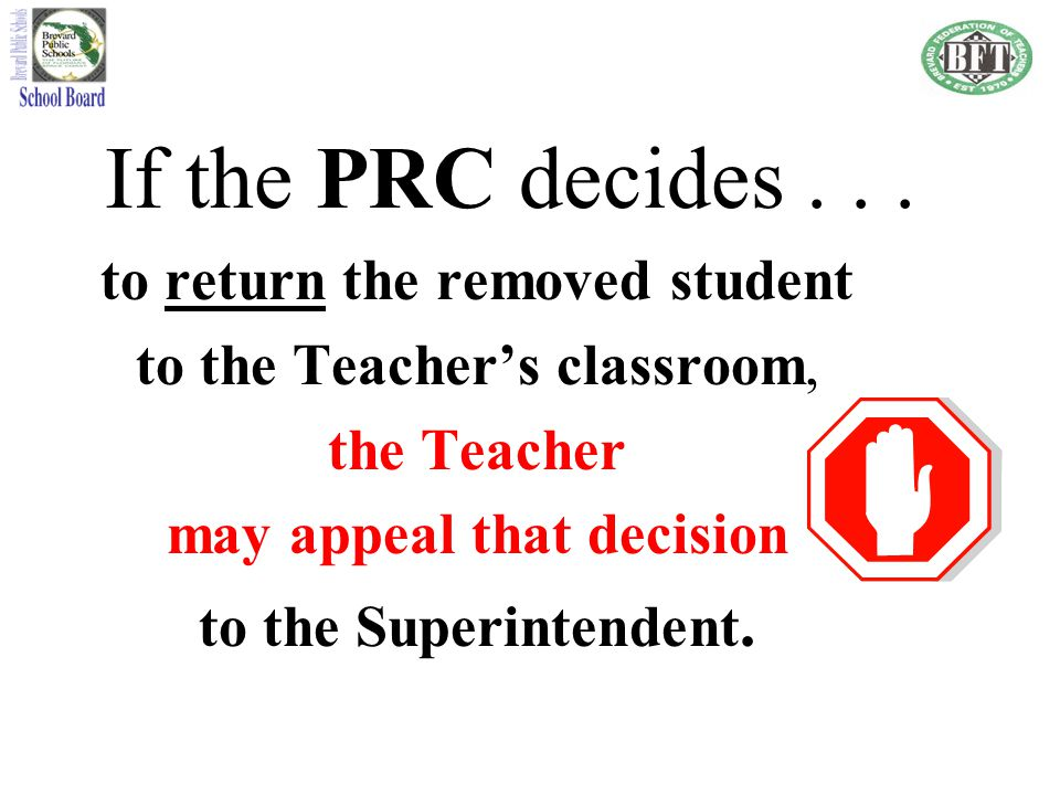 to return the removed student may appeal that decision