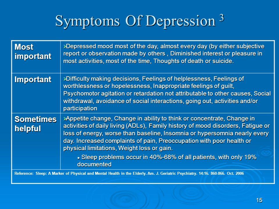 Symptoms Of Depression 3