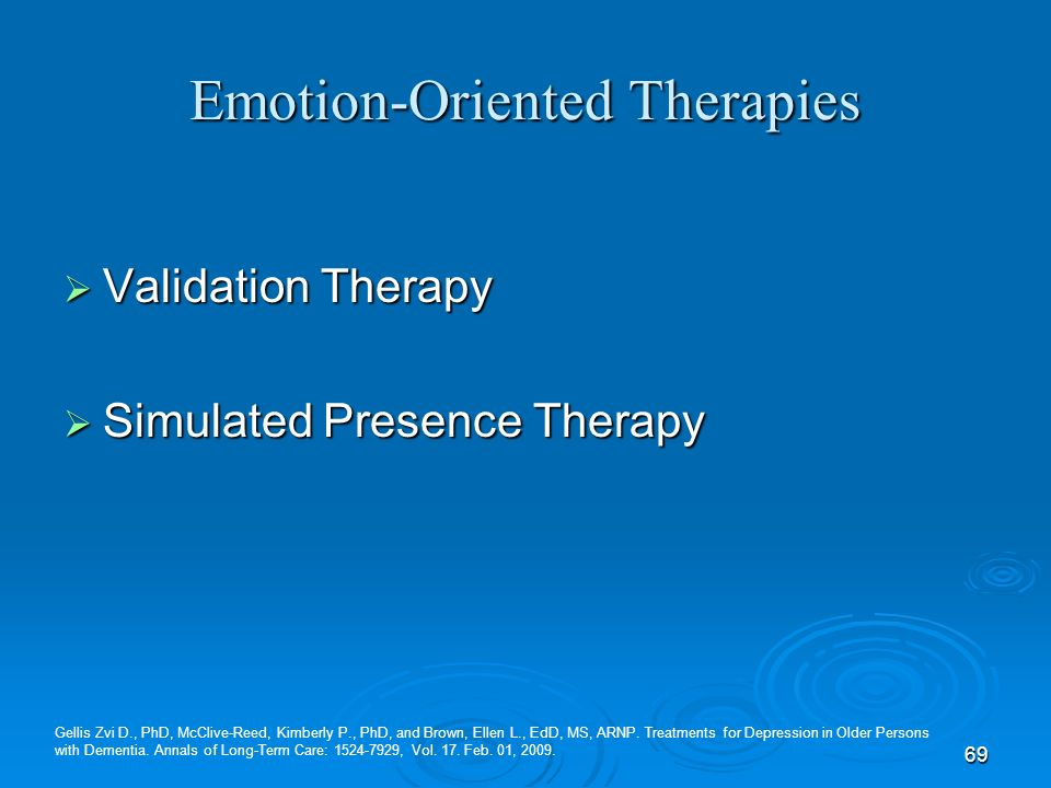 Emotion-Oriented Therapies