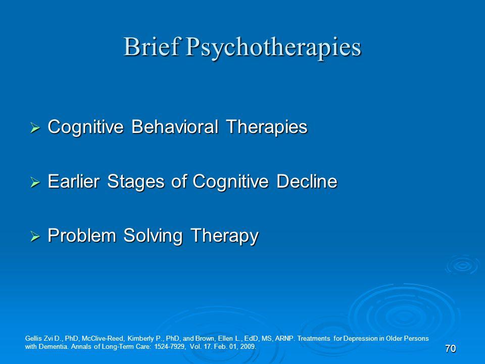 Brief Psychotherapies