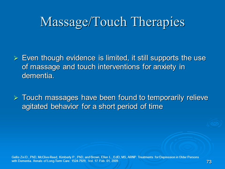 Massage/Touch Therapies