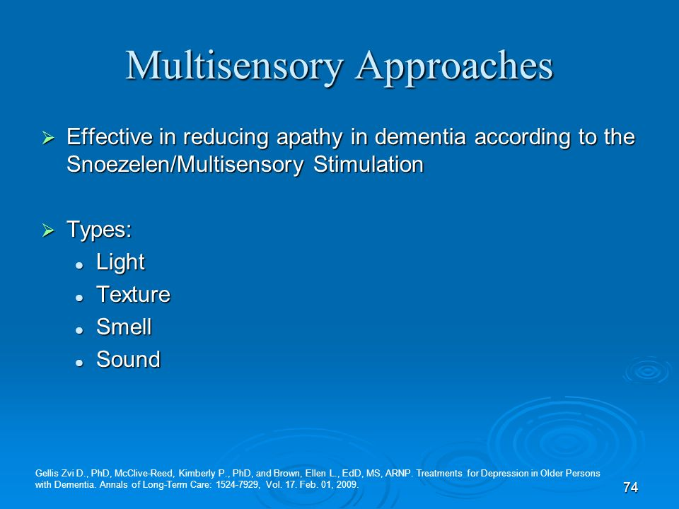 Multisensory Approaches