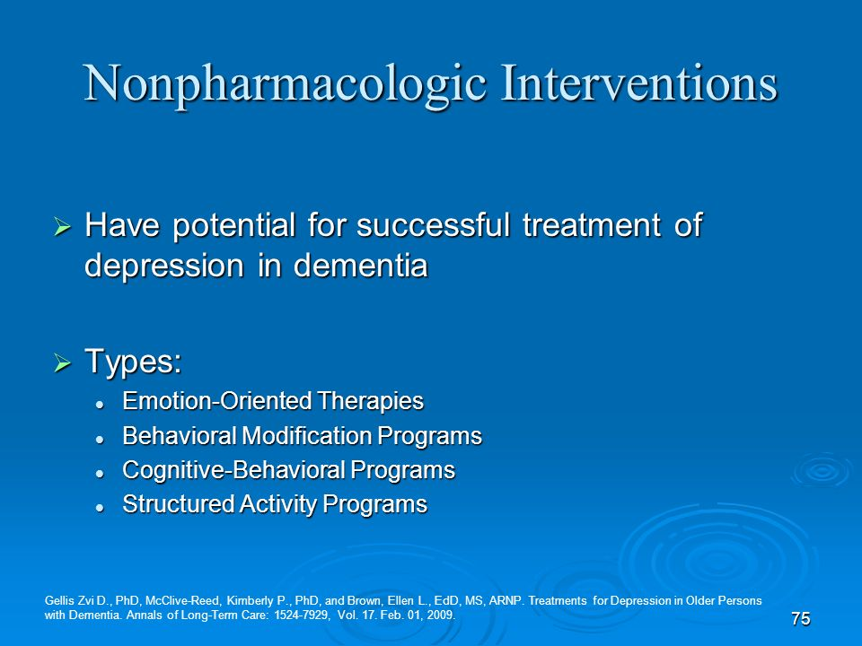 Nonpharmacologic Interventions