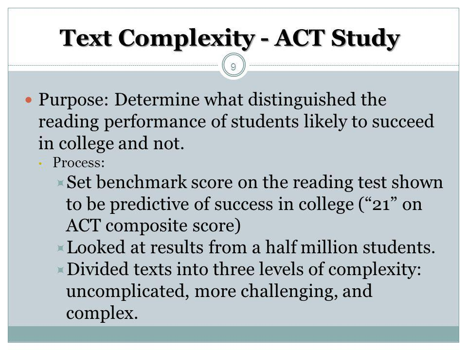 Text Complexity - ACT Study