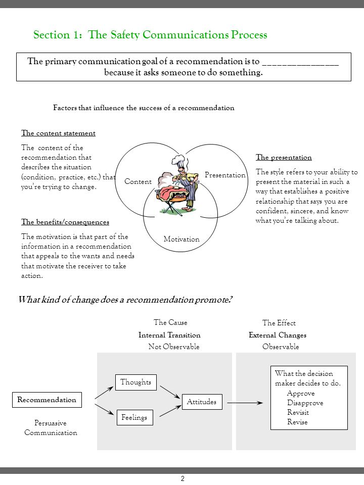 Factors that influence the success of a recommendation