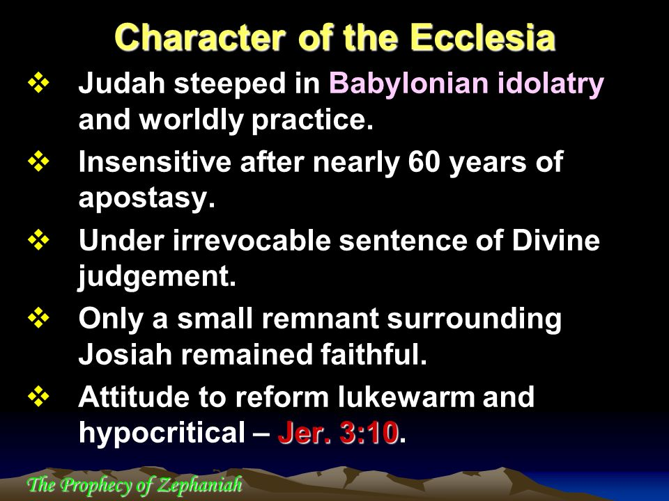 Character of the Ecclesia