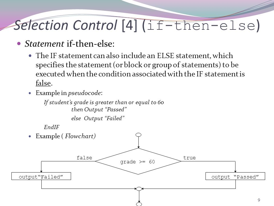 Selection Control [4] (if-then-else)