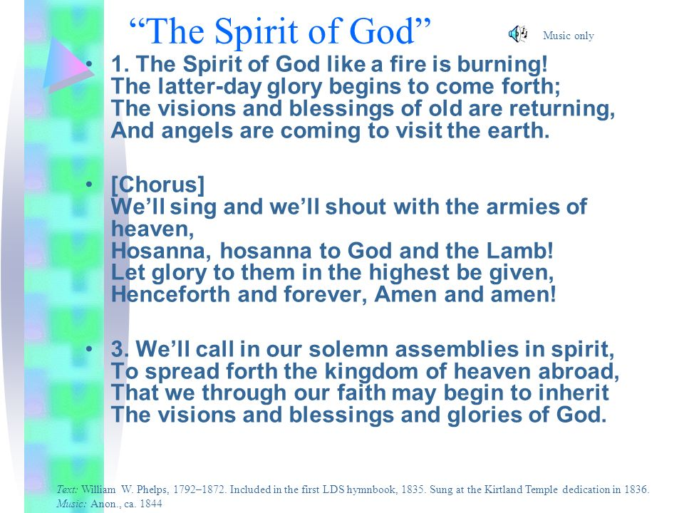 The Spirit of God Music only.