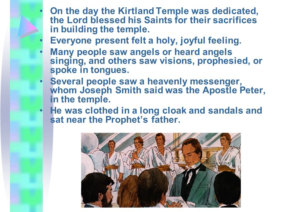 On the day the Kirtland Temple was dedicated, the Lord blessed his Saints for their sacrifices in building the temple.