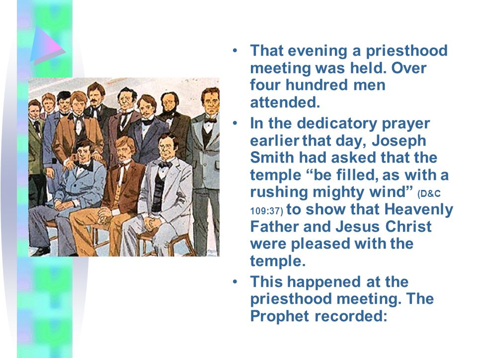That evening a priesthood meeting was held