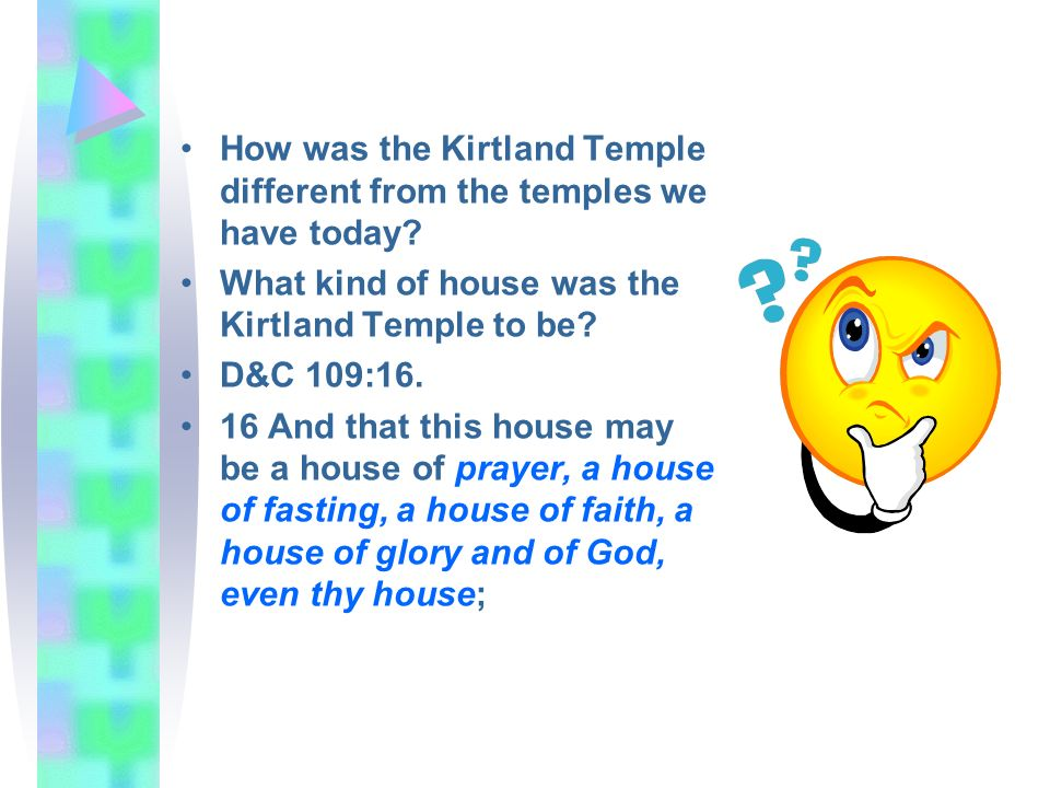 How was the Kirtland Temple different from the temples we have today