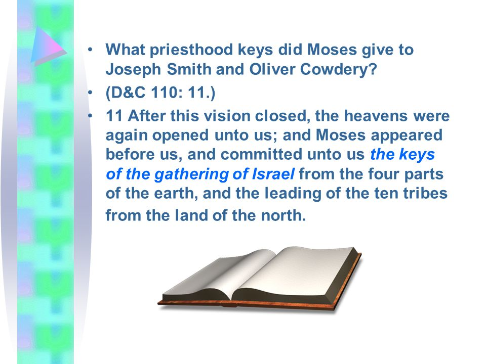 What priesthood keys did Moses give to Joseph Smith and Oliver Cowdery