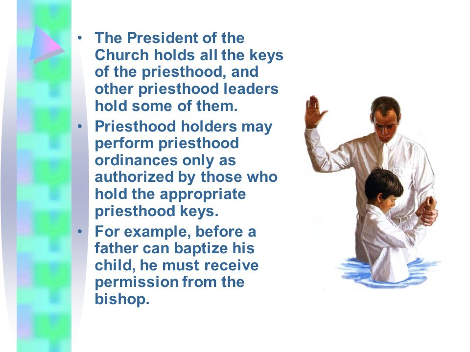 The President of the Church holds all the keys of the priesthood, and other priesthood leaders hold some of them.