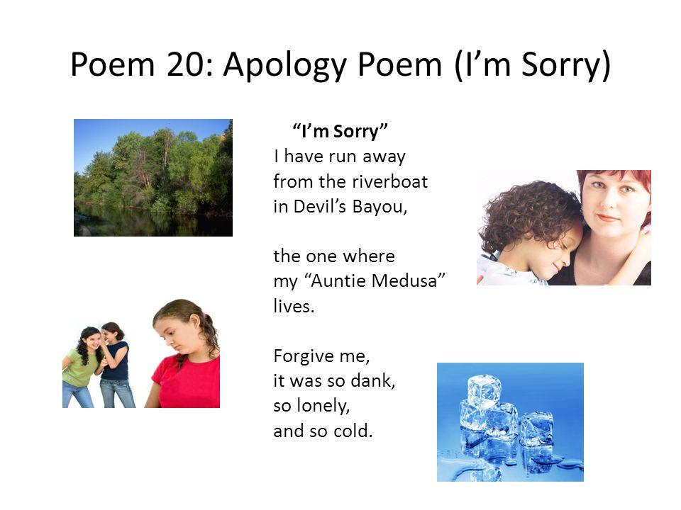 Poem 20: Apology Poem (I'm Sorry)