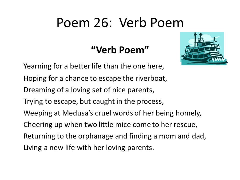 Poem 26: Verb Poem Verb Poem