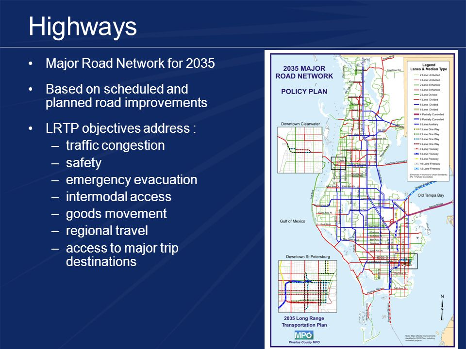 Highways Major Road Network for 2035