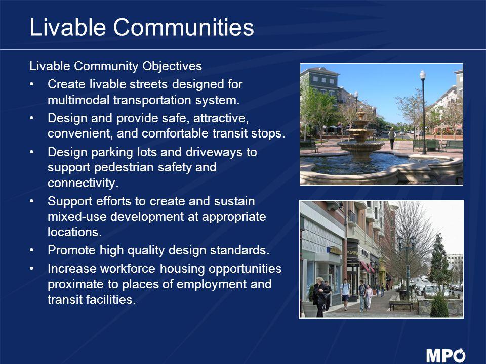 Livable Communities Livable Community Objectives